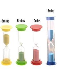 Investment 4-PACK 3mins /5mins /10mins/15mins Colorful Hourglass Sandglass Sand Clock Timers (Random Color) save