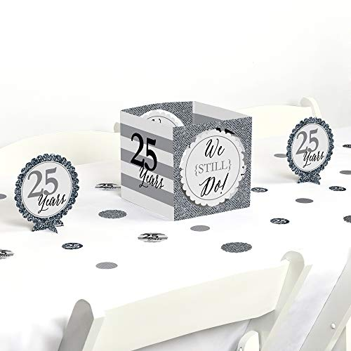 Big Dot of Happiness We Still Do - 25th Wedding Anniversary - Party Centerpiece & Table Decoration Kit]()
