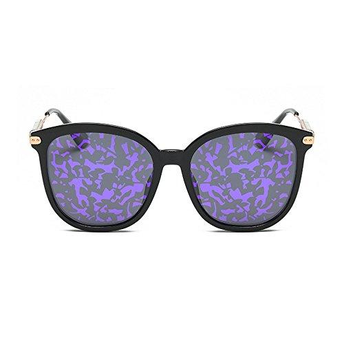 Cat Conducir de señora UV de Sol Color Full TR90 Tonos Purple Flower Eyes Ojos Protección Proteccion de Lens Personalidad Gris Gafas Polarized la de para Moda CBKntKUq