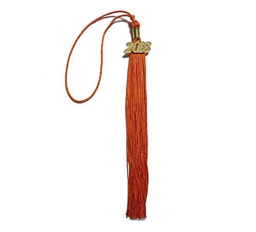 Grad Days Graduation Tassel with 2018 Year Charm Orange