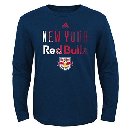 fan products of MLS New York Red Bulls Boys -Short sleeve Striker Tee, New Navy, Small (8)