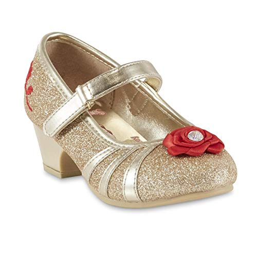 ACI International Girls Belle Gold Glitter Dress Shoe (7 M US Toddler Girls)