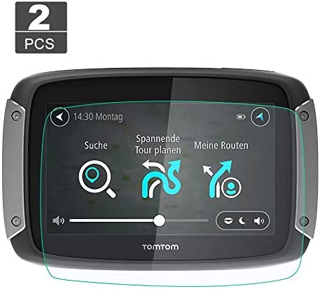 XHULIWQ 2本スクリーンプロテクターナビゲーションディスプレイスクリーン9H強化ガラスプロテクター、TomTom Rider 40 410 400 450 550 4.3インチ用