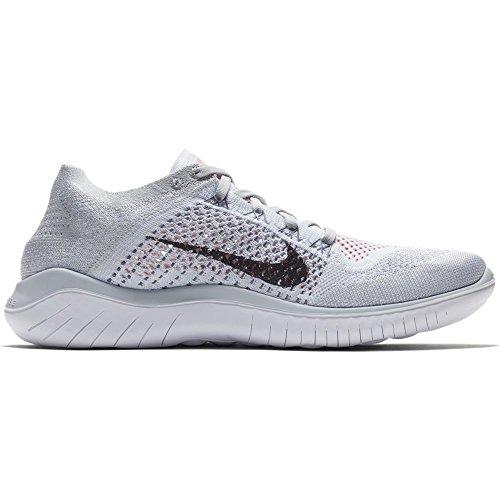 Nike Herren Laufschuh Free Run Flyknit 2018, Scarpe Running Uomo Grigio (Pure Platinum/Black- 003)