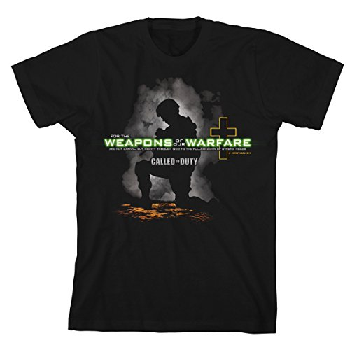 Christian Military T-shirt Weapons of Our Warfare - Active Duty Tee