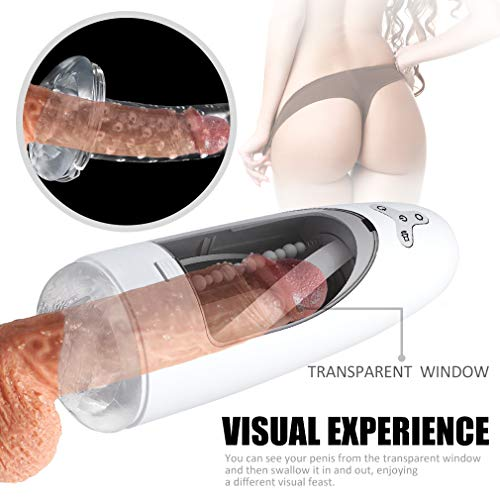 Male Ma&stürbator Automatic Intelligent Heating Male Hands Free Ma&stürbator USB Rechargeable Suction Cup Real Vágǐnálné Adult Sexo-Toy for Men