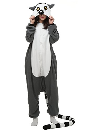 Lemur Costumes (Laidisi Novelty Costumes Pyjamas Unisex Adult One-Pieces Cosplay Jumpsuit Lemur M)