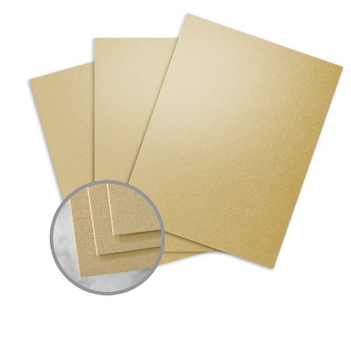 - CLASSIC Linen Gold Pearl Card Stock - 8 1/2 x 11 in 84 lb Cover Linen C/2S 250 per Package