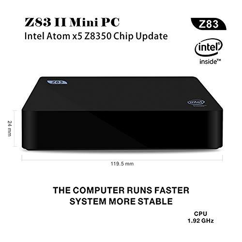 HLKYB Fanless Mini PC, Intel Atom-Z8350 HD Graphics Mini Desktop Computer,Windows 10,DDR3 2GB 32GB eMMC, Dual Band WiFi AC,Bluetooth 4.0,EU