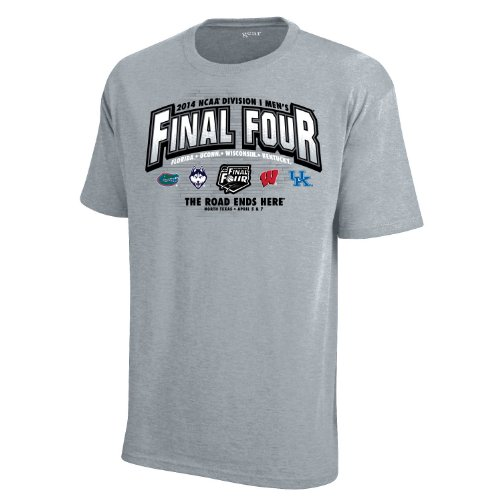 2014 Ncaa Final Four - Official 2014 NCAA Final Four Team Logo North Texas Gray T-Shirt (XL)