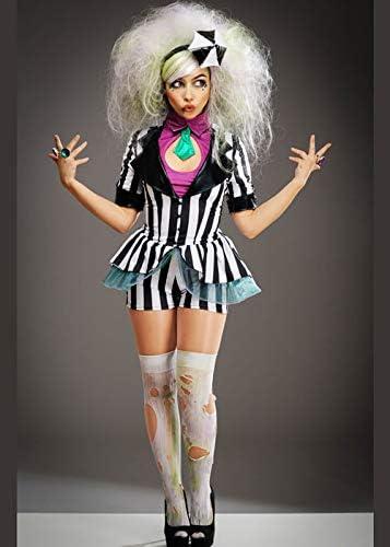 Disfraz de Beetlejuice Lindo a Rayas para Mujer Medium (UK 10-12 ...