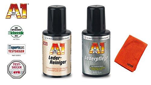 PRAKTISCHES PREMIUM SET A1 Dr WACK 250ml LEDERREINIGER Leder Reiniger + 250ml LEDERPFLEGE Lederschutz + LEDERPFLEGETUCH