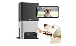 [New 2019] Petcube Bites 2 Wi-Fi Pet Camera with Treat Dispenser & Alexa Built-In, for Dogs & Cats. 1080P HD Video, 160° Full-Room View, 2-Way Audio, Sound/Motion Alerts, Night Vision, Pet Monitor