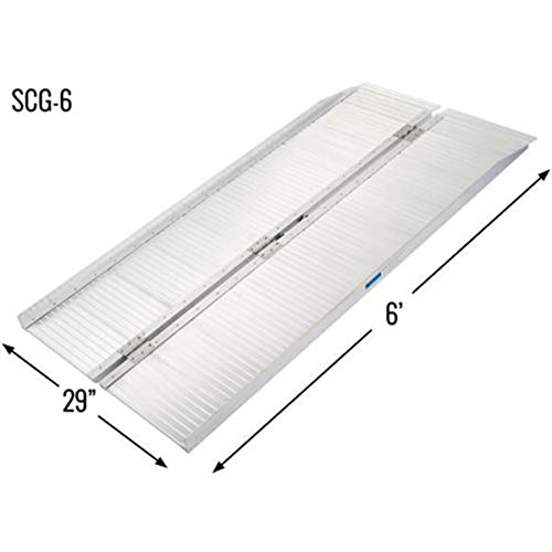Olymstore 6 ft Portable Aluminum Folding Ramp for Wheelchair Scooters Emergency Hospital -Briefcase Mobility,Non Slip,Home Utility Threshold Steps Ramps by Olymstore