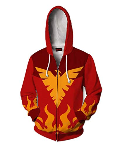 Womens Hoodie J Grey Jacket Spring and Autumn Coat Halloween Costume (XL, Red-PNX)]()