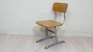 Outdoor Küche Kindergarten : Retro kinderstuhl 60er stabil metall holz schule kindergarten