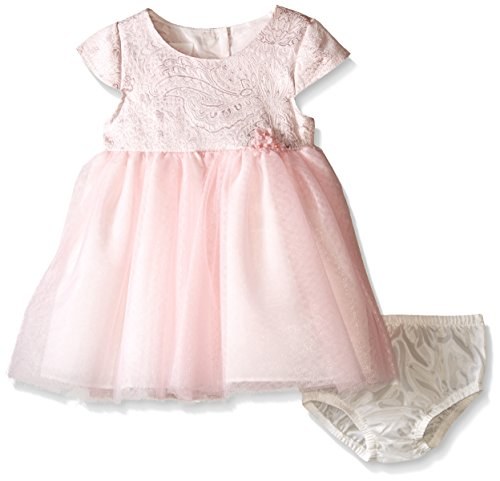 Bonnie Baby Girls' Short Sleeve Ballerina Party Dress With (Fancy Baby Panties)