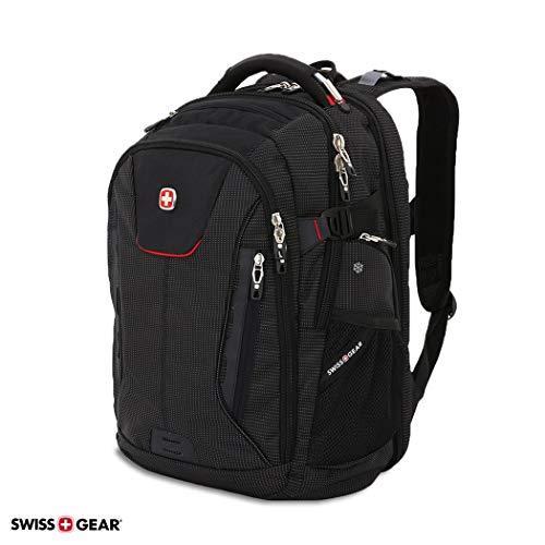 SWISSGEAR 5358 USB Charging SCANSMART Ultimate Organization Laptop Protection Backpack - Black/RED
