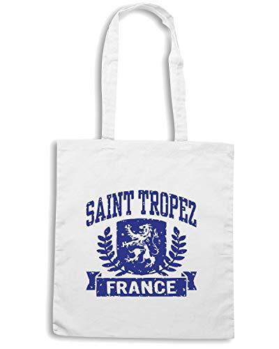 Borsa SAINT Speed Bianca Shirt TSTEM0083 TROPEZ FRANCE Shopper 5qq4X