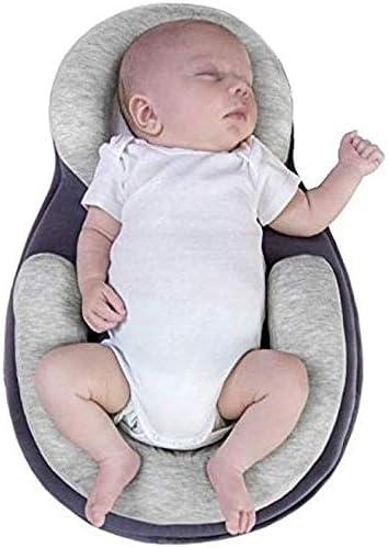 tragbares Khaki weiches Formkissen f/ür Babys f/ür 0-12 Monate Anti-Kopf-Seitenschlafkissen f/ür Babys atmungsaktives Kopfformkissen f/ür Babys