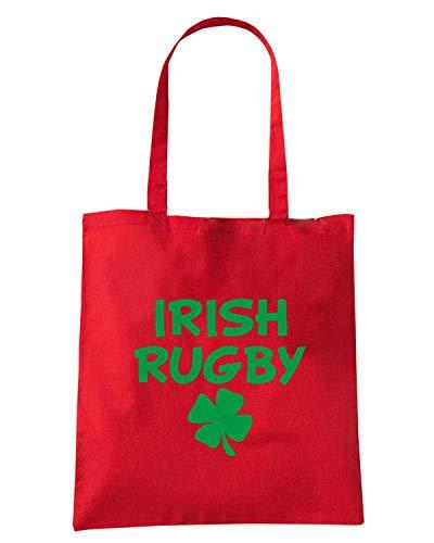 IRISH Speed Shopper Borsa Shirt LOGO RUGBY LIGHT Rossa TRUG0157 Crwr4qX