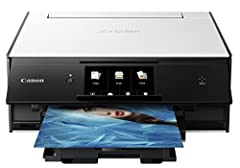 Welcome to the ultimate in quality photo and document printing, right at home. Welcome to the Canon PIXMA TS9020 wireless inkjet all-in-one printer. Featuring a six-color ink system, built-in creative Filters and support for fine art papers, ...