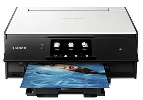 Canon TS9020 Wireless All-in-One Printer with Scanner and Copier: Mobile and Tablet Printing, with AirPrint and Google Cloud Print Compatible, - Computer Printers On Sale