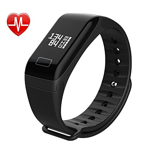 L8star Smart Fitness Tracker Bracelet Activity Watch with Heart Rate Blood Pressure Monitor Sleep Monitor Waterproof Touch Screen Pedometer Tracker Calories Burning Counter for IOS and Android by L8star