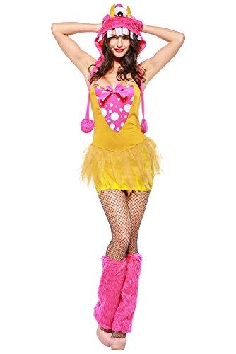 Mesodyn Sexy Monster Costume Halloween Fancy One Eyed Monster Hood Costume -