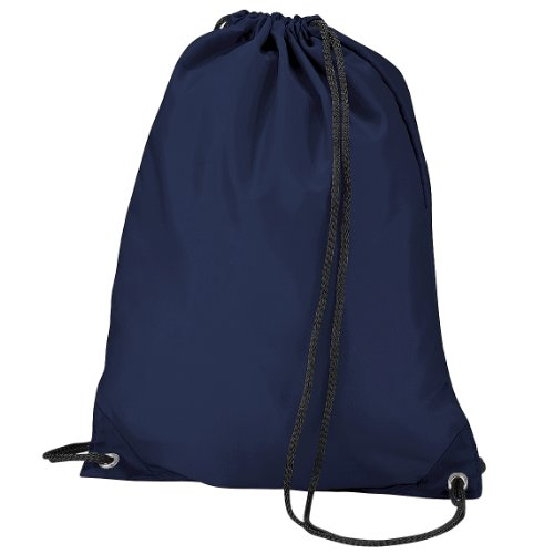 BagBase Turnbeutel / Sportbeutel, wasserabweisend, 11 Liter Blau - Marineblau