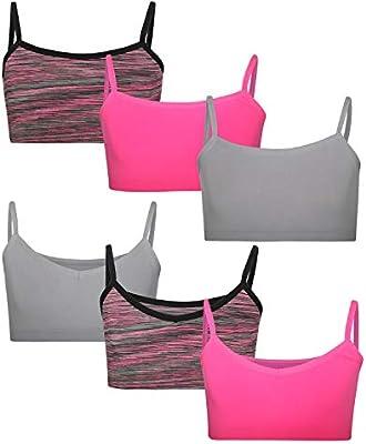 Rene Rofe Girls/' Nylon//Spandex Seamless Training Bra 8 Pack