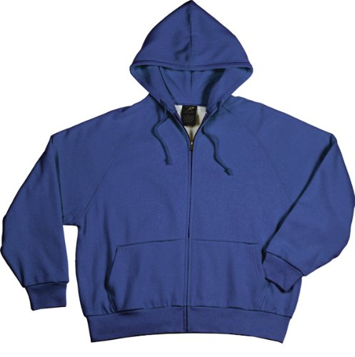 Amazon.com  Navy Blue Thermal-Lined Zipper Hooded Sweatshirt 6260NVY ... d42d082c978