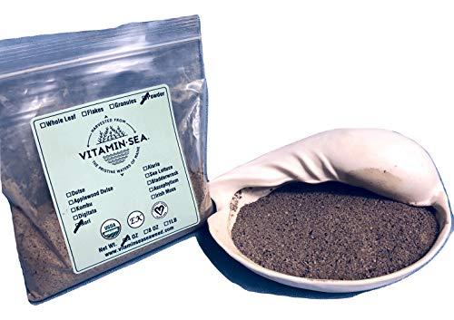 (VitaminSea Organic Nori Powder Laver - 4 oz / 112 G Maine Coast Seaweed - USDA & Vegan Certified - Kosher - Perfect For Keto or Paleo Diets - Sun Dried - Raw Wild Atlantic Ocean Sea Vegetables (NP4))