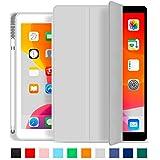 Capa Novo iPad 7a e 8a Geração 10.2″ WB Premium Slim Antichoque com Compart. para Pencil Cinza