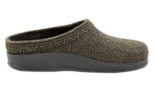 Wool Clog Women's with Felt Teak Polyflex Stegmann Sole 5q1w8v