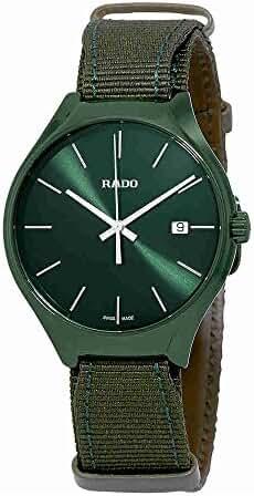 Rado True Quartz Green Dial Mens Watch R27233316