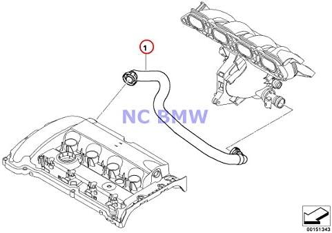 NEW For Mini R55 R58 Crankcase Vent Hose Valve Cover to Intake Manifold GENUINE
