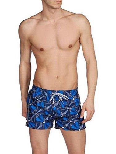 Diesel Men's Coralrif Bantu Print Swim Trunk, Navy, Large by Diesel