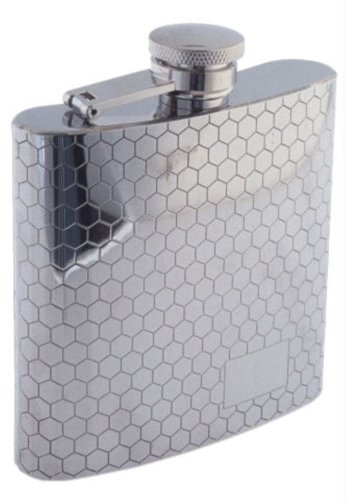 (Colonel Conk Model 1007 Rimless Flask with Honeycomb Pattern, 6 oz)