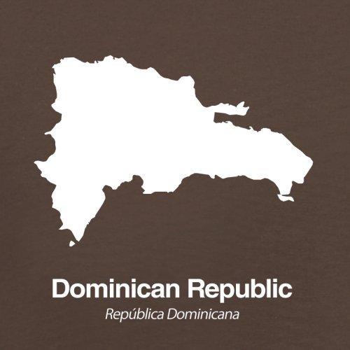 Dominican Republic / Dominikanischen Republik Silhouette - Herren T-Shirt - Schokobraun - XL