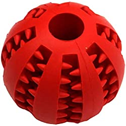 shine-hearty Pet Dog Toys Extra-Tough Rubber Ball Toy Funny Interactive Elasticity Ball Dog Chew Toys for Dog Tooth Clean Ball,Red,S