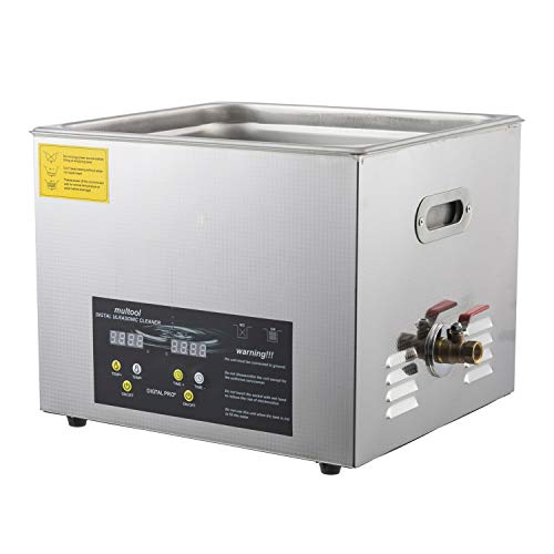 (Ultrasonic Cleaner with Heater |Professional Stainless Steel Body | Large Commercial Ultrasonic Cleaner 15L| Cleans Carburetors,Guns & Gun Parts, Glassware Musical Instrument Parts)