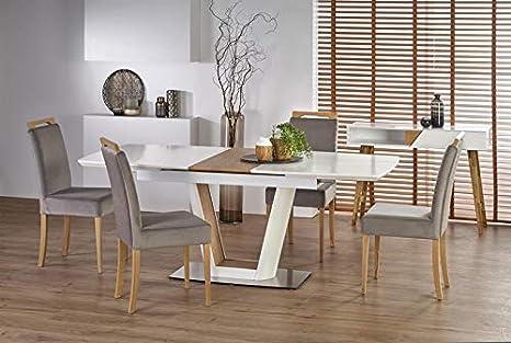 CARELLIA - Mesa de Comedor Extensible (160 ÷ 200 x 90 x 76 ...