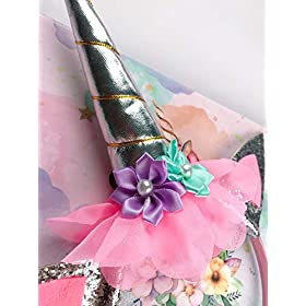 - 41SnnBgUnOL - VLalin Unicorn Gift Set Unicorn Purse/Necklace/Lace Choker/Keychain/Head Clip/Headband