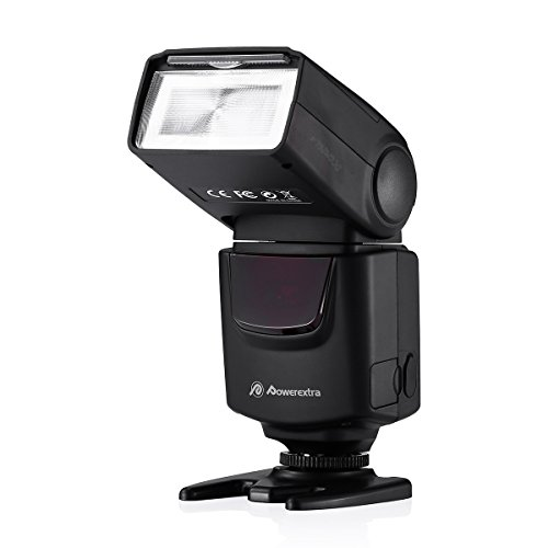 Powerextra Flash Speedlight DF-400 for Canon Nikon Olympus Pentax Samsung Fujifilm Ricoh DSLR and Digital Cameras with Single-Contact Hot Shoe
