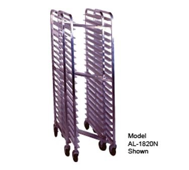 """Winholt SS-1810N Full Height Nesting Mobile Pan Rack with Open Sides, (20) 14"""" x 18"""" or (10) 18"""" x 26"""" Pan Capacity"""