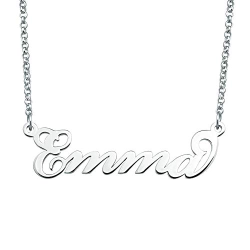 SexyMandala Personalized Name Necklace Initial Necklace Customized Sterling Silver Original Font Pendant Jewelry Same Day Shipping Gift for Emma