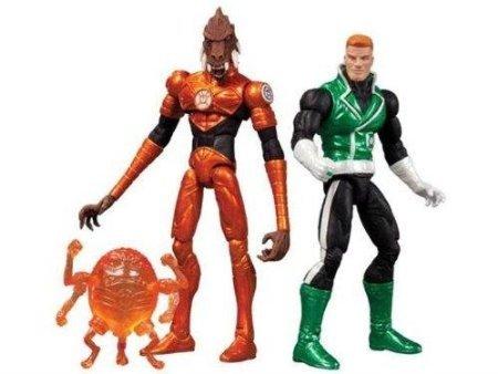 DC COMICS SUPER HEROES GUY GARDNER & LARFLEEZE ACTION FIGURE 2-PACK CONVENTION EXCLUSIVE