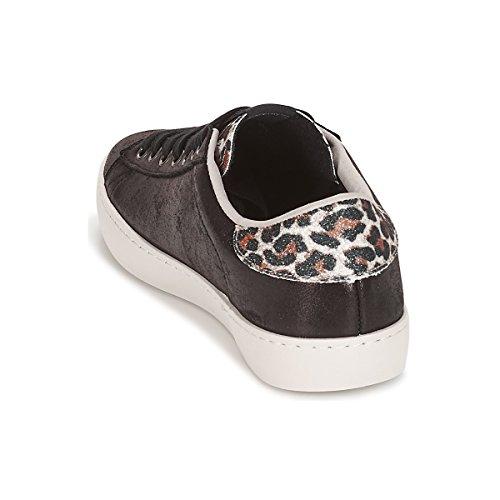 Victoria Negro Mujer Leopardo Zapatillas Brillo Negro Deportivo 10 Para 7xrO7fY