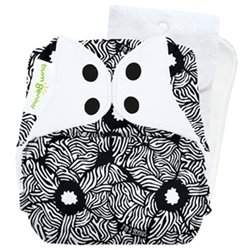 - Genius Series: bumGenius 4.0 One-Size Snap Pocket Cloth Diaper (Flower)